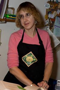 Jonie managing the kitchen.