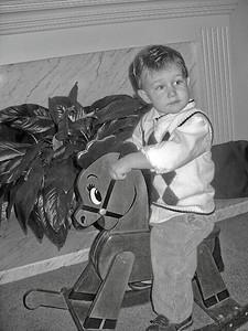 Daniel rides Rocky