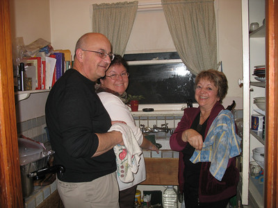 Buzz, Vicki and Harriet did the piles of dishes. Thanks!
