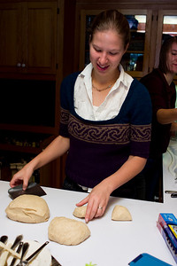 Back inside Abby made rolls.