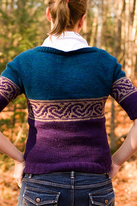 Awesome sweater.  I failed to art-direct properly and smooth out the back.