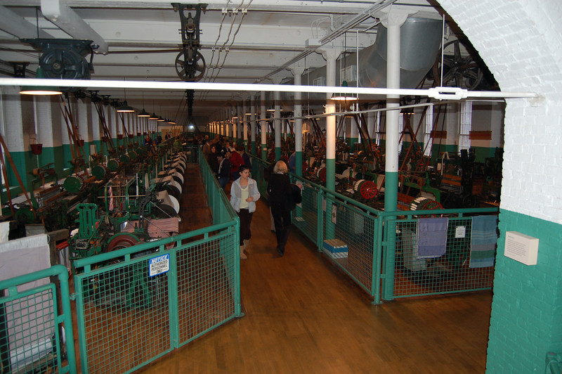 Boot Mill: This is a giant room full of about 200 Draper looms - all running.  VERY loud on this room.