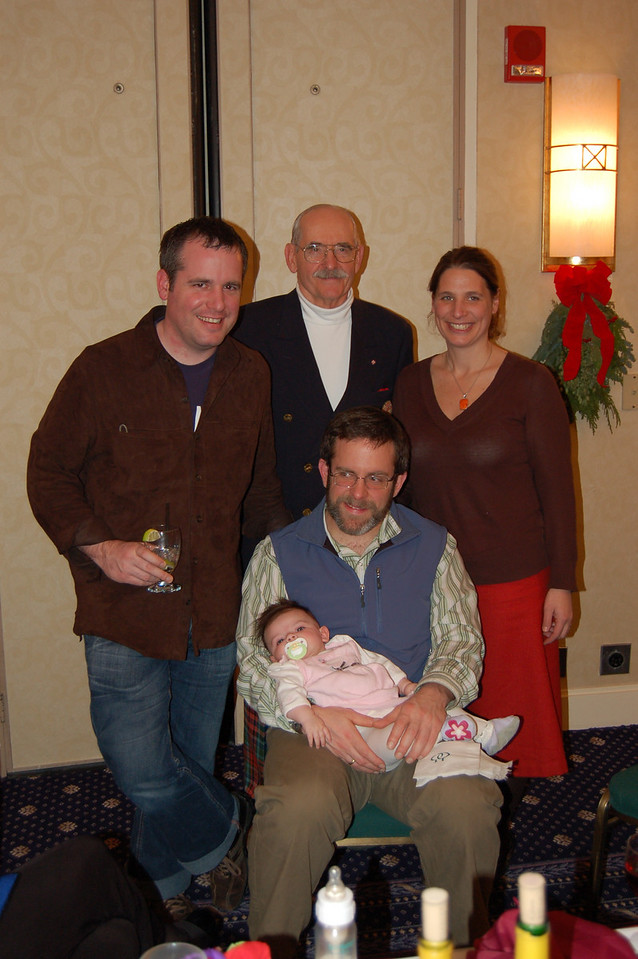The Scharnbergs - Alex, Jim, Christina, baby and daddy Eric.