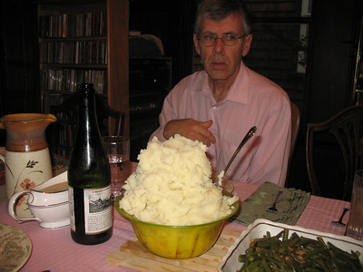 Paul and his mountain of mashed potatoes