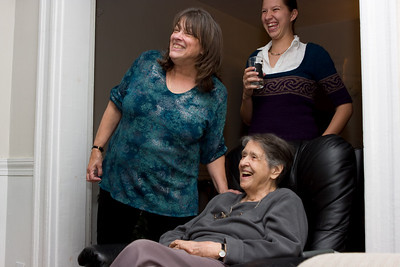 Marmey, my mother Pam, and Abby.