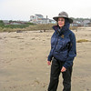 Photo taken by Colleen Sher.<br /> Ranger Linda is her rain gear.