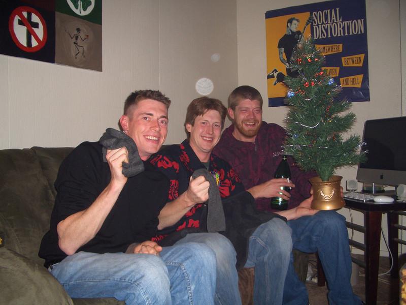 Jon, Mike and Chris at Christmas, 2008 (Mike's apartment)
