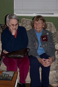 Barbara Jean and Mom catch up in the huge comfy chair.