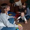 Aha!  Grandma's got my ball!