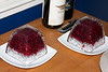 Samantha made cranberry sauce--tasty AND beautiful.