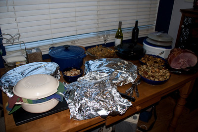 Food waiting for everything to be ready.