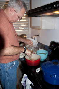 Paul making gravy.