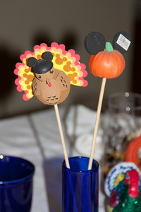 Some of Linda's Mickey Mouse Antenna Ball collection were appropriate centerpieces for the occasion.