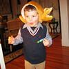 Carter in his Thanksgiving turkey hat.