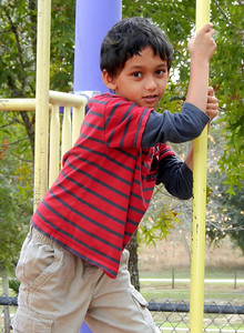 Peyton on the playground