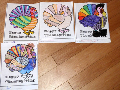 Some coloring contest entries