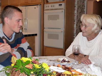Danny plays the harmonica for Grandma