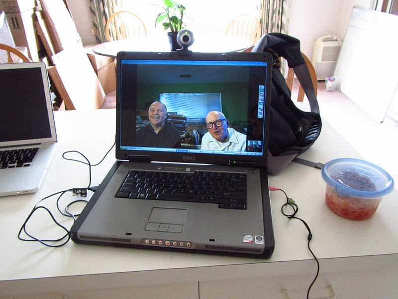 Skyping with Dad & PopPop - Turlock, CA USA to Christchurch, Canterbury NZ