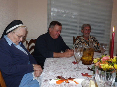 Aunt Pudgy, Ron Prando, and Joey