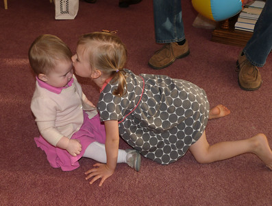 Cambria kisses baby Rose