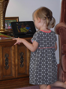 Cambria watching the Wiggles!