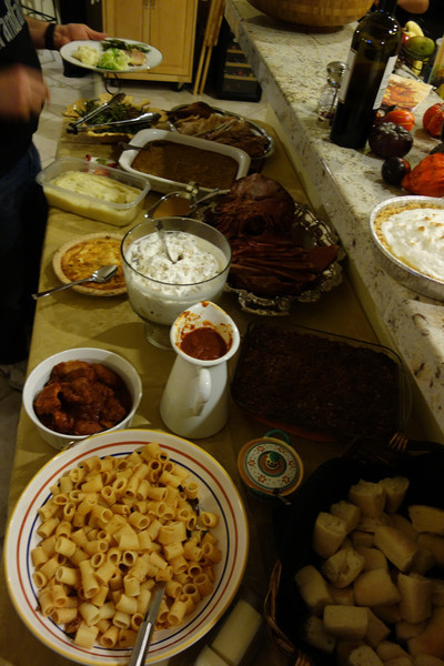 The delicious spread (including pasta, of course)