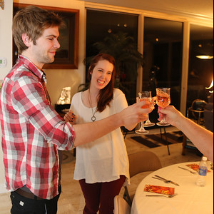 Harrison & Delaney doing a toast