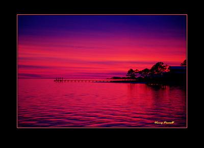 sunset in Gulf Breeze