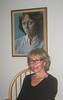 Donna and her portrait.