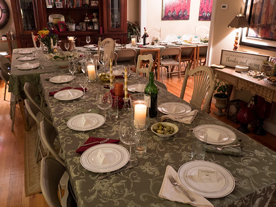 A beautiful table awaits the Thanksgiving guests.