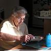 Grandma polishing Silver