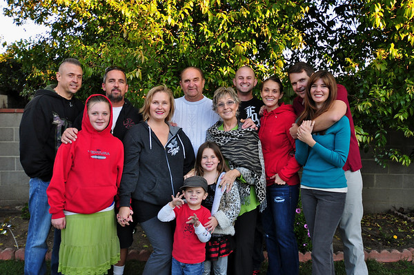 Janik family, from left: Joe, Helena, Mason, Nicole, Ray Sr., Carole-Ann, Nick, Krista, Ray, and Stacey, with Ingrid and Ethan in front (we're missing Kassy, behind the camera, and Justene, who had to depart early for other Thanksgiving festivities)