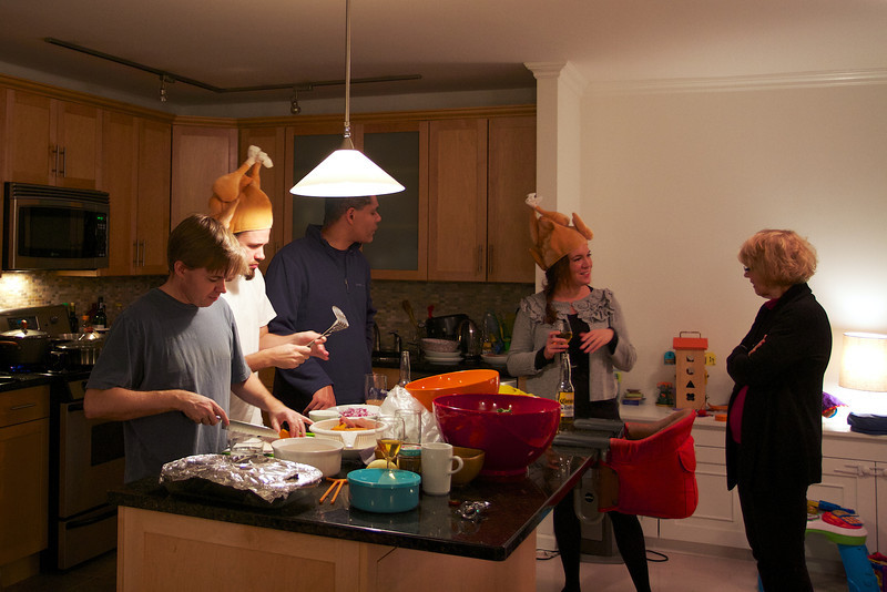 Notice how it's the guys that do the cooking...