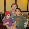 Grandma with Charlotte and Alex.