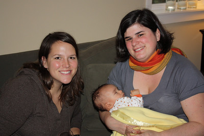 Kelly, Bridget and sleepy Esther