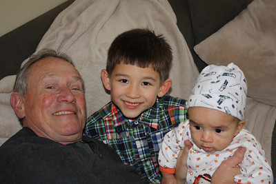 Uncle Wayne and Nick (or Zack?) with Esther