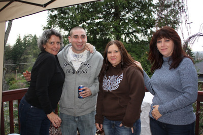 Louise, Brian, Brian's girlfriend and her mom