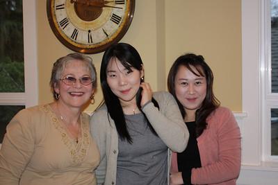 Jan and her Korean exchange students