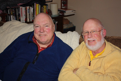 Dad and Uncle Jim take their spots on the couch in front of football