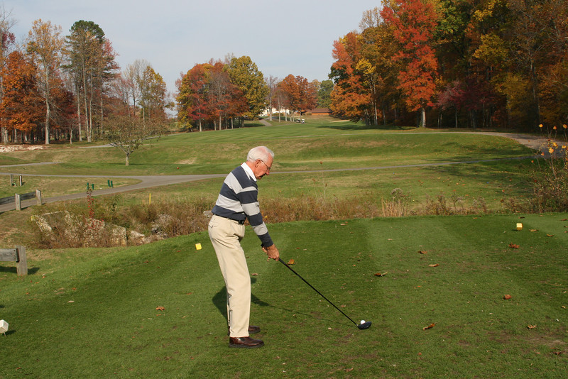 Dad on the 18th tee