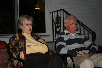 Mom and Dad by the fire