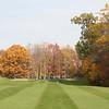 Pretty golf course in the fall