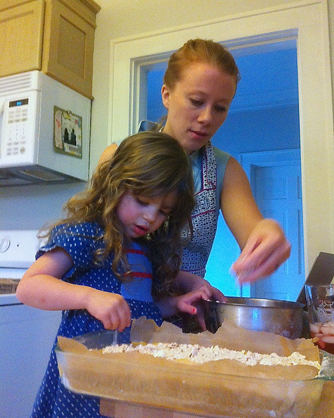 "Chef Kanene and ""Chefette"" Eisley making desserts!"