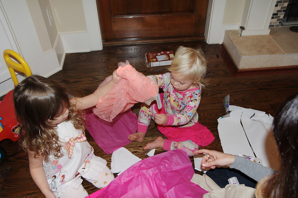 Eisley and Nora enjoying early Christmas presents!