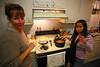 Mom and Nini cooking wide angle!