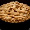 Lattice crust apple pie shot in our DIY softbox
