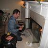 my cousin matt makes a fire.