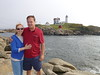 2013-09-21 P1020037 Sara and Jonathan at the Nubble Lighthouse