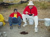 2003-09-15 P9159054 Never thought I'd be eating next to a cow flap - Elaine