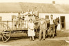 1934 Elenora, John Brewer, Howard, Al, Haven, Ruth, Ellen, Margaret, Russell in Wagon
